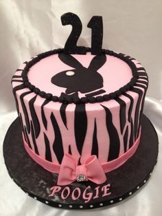 Playboy bunny cake By fedra on CakeCentral.com
