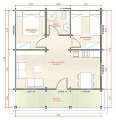 Casa quadrada The cost reach of the Apartment was amazing. Small House Floor Plans, Small Tiny House, My House Plans, Bungalow House Plans, Cabin Plans, Apartment Layout, Apartment Plans, Plan Hotel, 2 Bedroom House Plans