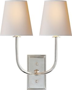 "circa lighting  HULTON DOUBLE SCONCE  16.5"" h, 14"" w, 9.5"" d"