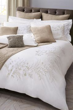 Buy Cotton Amelie Embroidered Bedset from the Next UK online shop