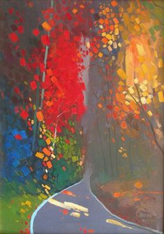 PASHK PERVATHI - Autumn Series...can you not only appreciate the affects of the colour and light in this piece but also feel the heat of the sun dappling through the hanging boughs?
