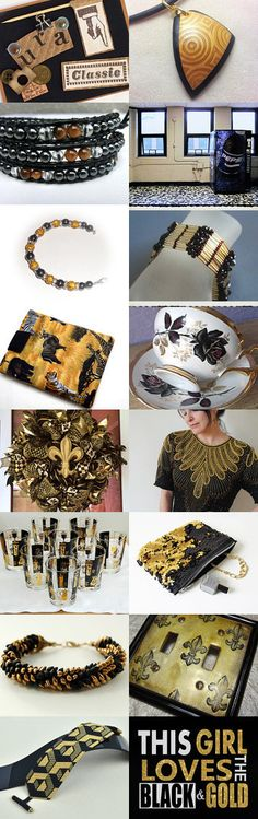 Classic Black and Gold by suzanne sumrow on Etsy--Pinned with TreasuryPin.com #necklace #bracelet #jewelry #earring #homedecor
