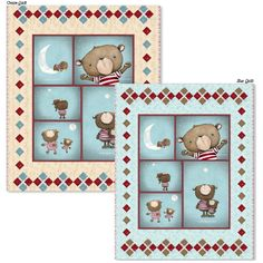 Stacy Yacula's darling bears are enjoying the evening sky. Wish upon a star coordinates are sure to create an enchanting project! Use the panel to make this great free quilt project!