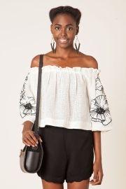 blusa floral paula bordada
