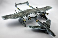 Daimler proposed a few alternate designs the model you see is Project B project C had two parasite fighters also on board ,project E only fighters and F only flying bombs none of the projects came off the drawing board