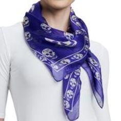 "Alexander McQueen silk scarf. 100% authentic Approximate 47""L x 41""W Alexander McQueen Accessories Scarves & Wraps"