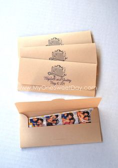 Photobooth Photo-Strip Envelopes Baptism children's by MySweetDay