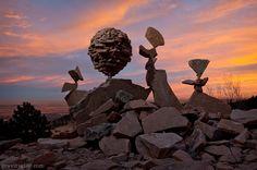 seni keseimbangan batu oleh Michael Grab