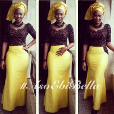 aso ebi, gold and black lace