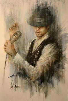 "Remi Labarre...""The Last Crooner""#art #painting #man"