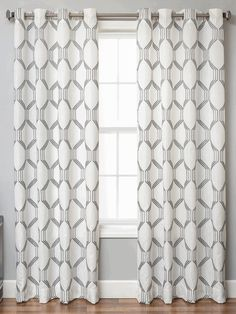 Dylan Linen Style Curtains With Embroidery Sch Geometric Tile Design In Standard And Ready Made Sizes Extra Long Inch Inches Length