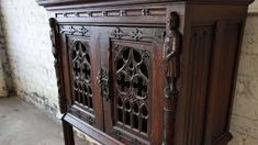 gótikus bútor Antique Furniture, Liquor Cabinet, Architecture, Antiques, Storage, Vintage, Furnitures, Carving, Home Decor