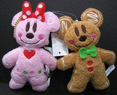 "Tokyo Disney Minnie Fancy GingerBread Plush Doll Christmas 2014 Japan Toy 11/"""