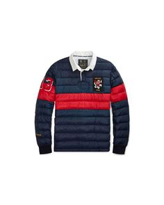 e297958ab0d Polo Ralph Lauren - Blue Quilted Down Rugby Pullover for Men - Blue Quilts
