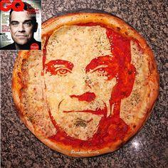 Pizza Portrait of Robbie Williams