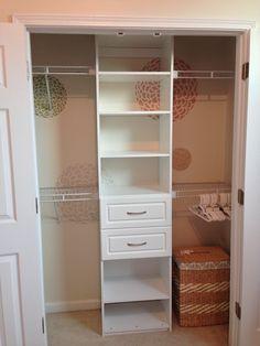 Nursery closet -- Modern Country Baby Girl Nursery