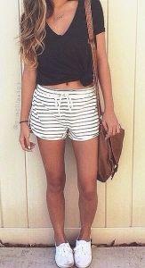 summer outfits stripes shirt