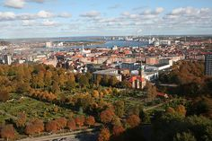 Gorgeous panoramic city view! //Autumn in Aalborg, Denmark