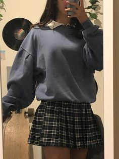 Indie Outfits, Teen Fashion Outfits, Edgy Outfits, Retro Outfits, Cute Casual Outfits, Skirt Outfits, Fasion, Fall Outfits, Vintage Outfits