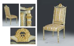 Bespoke carved gilded Louis 17th chair by www.rubensartgallery.com