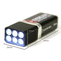NEW 9 Volt LED Torch Flashlight 6 White Light Bulbs emergency Battery Camping 9V