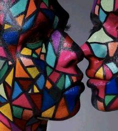 Fantasy makeup mosaic