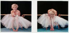 MILTON GREENE (American, 1922-1985) Diptych of Marilyn Monroe, from the Ballerina Sitting, 1954 Dye-transfer, 1979 8 x 8 inches (20.3 x 20.3 cm) Signed and dated in pencil with artist's copyright stamp and other notations in red crayon verso. Estimate: $800 - $1,200.