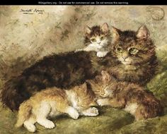 Motherly Love - Henriette Ronner-Knip