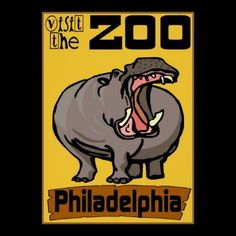 Shop Hippo: Visit Zoo Philadelphia Poster created by figstreetstudio. Personalize it with photos & text or purchase as is! New Orleans Voodoo, New Orleans Art, Custom Posters, Vintage Posters, Nola Vacation, Animal Posters, Crescent City, Local Artists, Custom Framing