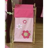 Found it at Wayfair - Flower Pink Green Laundry Hamper