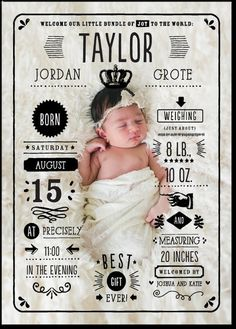 Grand Arrival Birth Announcements