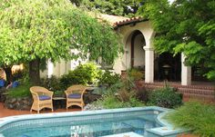 Petite pool ideas for when you just want to cool off. mediterranean patio by John Montgomery Landscape Architects