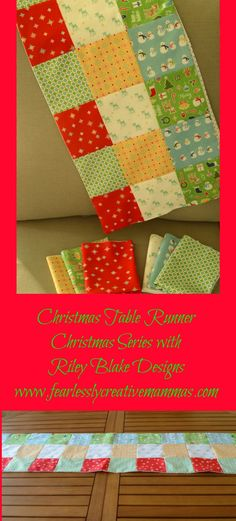 Christmas-Table-Runner with   Riley-Blake-Designs #sp
