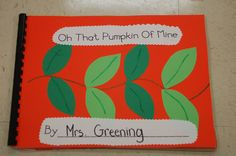 Pumpkin Life Cycle Book this sight also has lots of other fall work station ideas