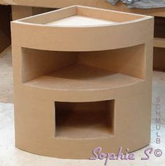 Moveis de papel o on pinterest cardboard furniture - Meuble d angle pin ...