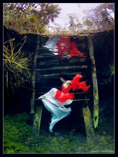 Underwater nude art