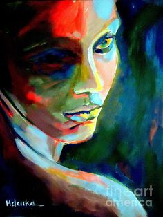 Thoughtful mute Painting by Helena Wierzbicki - Thoughtful mute Fine Art Prints and Posters for Sale