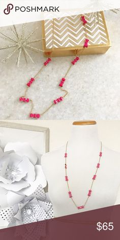Kate Spade Take a Bow Scatter Necklace in Pink Kate Spade Take a Bow Scatter Necklace in pink. Gold detail with pink bows. Never been worn. Lobster claw closure. •No Trades •No PayPal •Instagram: Citrus and Lavender Lane kate spade Jewelry Necklaces