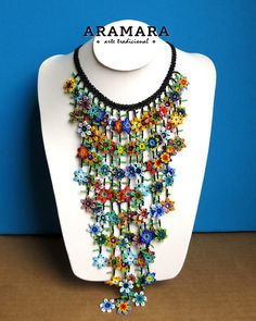 Dimensions Necklaces length is 19.5 inches (49.53 cms) Earrings length is 5 inches (12.70 cms) The Huichol represent one of the few remaining indigenous cultures left in Mexico. They live in self-imposed isolation, having chosen long ago to make their home high in the mountains of the