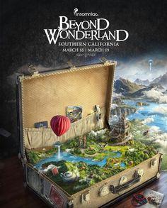 Beyond Wonderland 2016 - Graphic Desing Ads Creative, Creative Posters, Creative Advertising, Advertising Design, Creative Design, Creative Flyers, Crea Design, Graphisches Design, No Photoshop