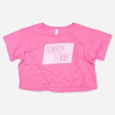 Tomboy Femme Pink Crop Top