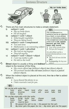 Grade 9 Grammar Lesson 1 Sentence structure great website for various grade levels and grammar concepts by therese Learn English Grammar, English Language Learning, English Lessons, Teaching English, English Reading, English Writing, English Literature, Good Grammar, Grammar Lessons