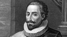 Spanish novelist Miguel de Cervantes, circa He published The Adventures of the Ingenious Nobleman Don Quixote of La Mancha, in two volumes, in 1605 and Michel De Montaigne, Somerset, Don Miguel, Poet Quotes, Teaching Poetry, Magnum Opus, Nbc News, Bury, How To Raise Money