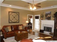 my old house/Tyler Taupe by Benjamin Moore Taupe Living Room, Living Room Decor, Living Rooms, Foyer Paint, Basement Colors, Neutral Paint, Front Rooms, House Painting, My Dream Home
