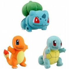 Pokémon original starters plushies