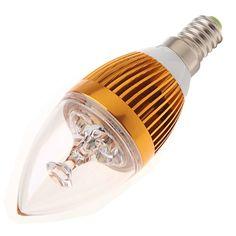85V - 265V 3W E14 LED Light Bulb Candle Lamp Warm White