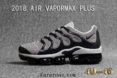 cheap Nike Air Vapormax Plus KPU TN + 2018 Wolf Grey Black Nike Shoes, Making its debut in Men's Nike Air Max Plus TN Ultra Shoe gets a fresh makeover with a durable leather and mesh upper. Black Nike Shoes, Black Running Shoes, Black Sneakers, Black Nikes, Sneakers Nike, Casual Sneakers, Nike Air Max Tn, Nike Max, Nike Air Vapormax
