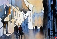 Simple Study - Italy by Thomas W. Schaller Watercolor ~ 15 inches x 22 inches