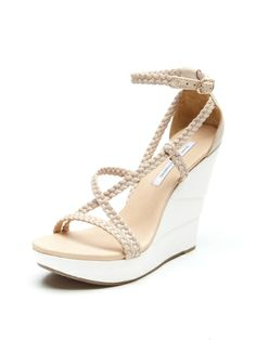 Olive Wedge Sandal by Diane von Furstenberg at Gilt