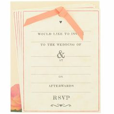 Paperchase wedding invitation- can I get married now so I can send these to people? Love them!